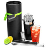 The Cocktail Store Black Vinylworks Boston Cocktail Shaker Gift Set