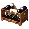 Natural Elements Acacia 6 Bottle Wooden Wine Rack