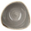 Churchill Stonecast Peppercorn Grey Triangular Bowls