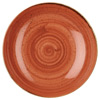 Churchill Stonecast Spiced Orange Coupe Bowls
