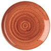 Churchill Stonecast Spiced Orange Coupe Plates