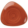 Churchill Stonecast Spiced Orange Triangular Plates