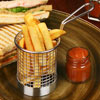 Round Chip Fryer Food Presentation Baskets