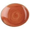 Churchill Stonecast Spiced Orange Oval Coupe Plate 19.2cm