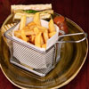 Square Chip Fryer Food Presentation Baskets
