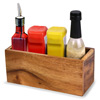 Acacia Wooden Condiment Caddy 23 x 10 x 10cm