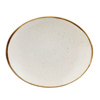 Churchill Stonecast Barley White Oval Coupe Plate 19.2cm