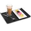 Luna Black Plastic Serving Trays