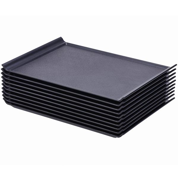 luna black plastic serving tray at. Black Bedroom Furniture Sets. Home Design Ideas