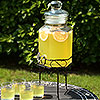 Hexagonal Glass Drinks Dispenser with Stand 197oz / 5.6ltr