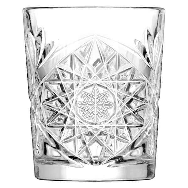 Double Strength Glass Cutting : Hobstar vintage cut glass whisky glasses at barmans