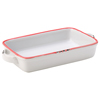 Avebury Red Small Rectangular Dish 17.5cm