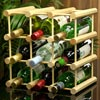 9 Bottle Pine Wine Rack