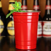 Stainless Steel Red American Party Cups 16oz / 455ml