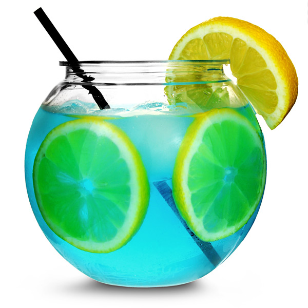 Individual mini cocktail fish bowl 20oz 568ml cocktail for Restaurants with fish bowl drinks near me