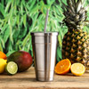Insulated Stainless Steel Cold Cup with Lid and Straw 16oz / 470ml