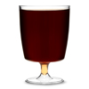 Disposable One Piece Wine Glasses 8oz LCE at 200ml